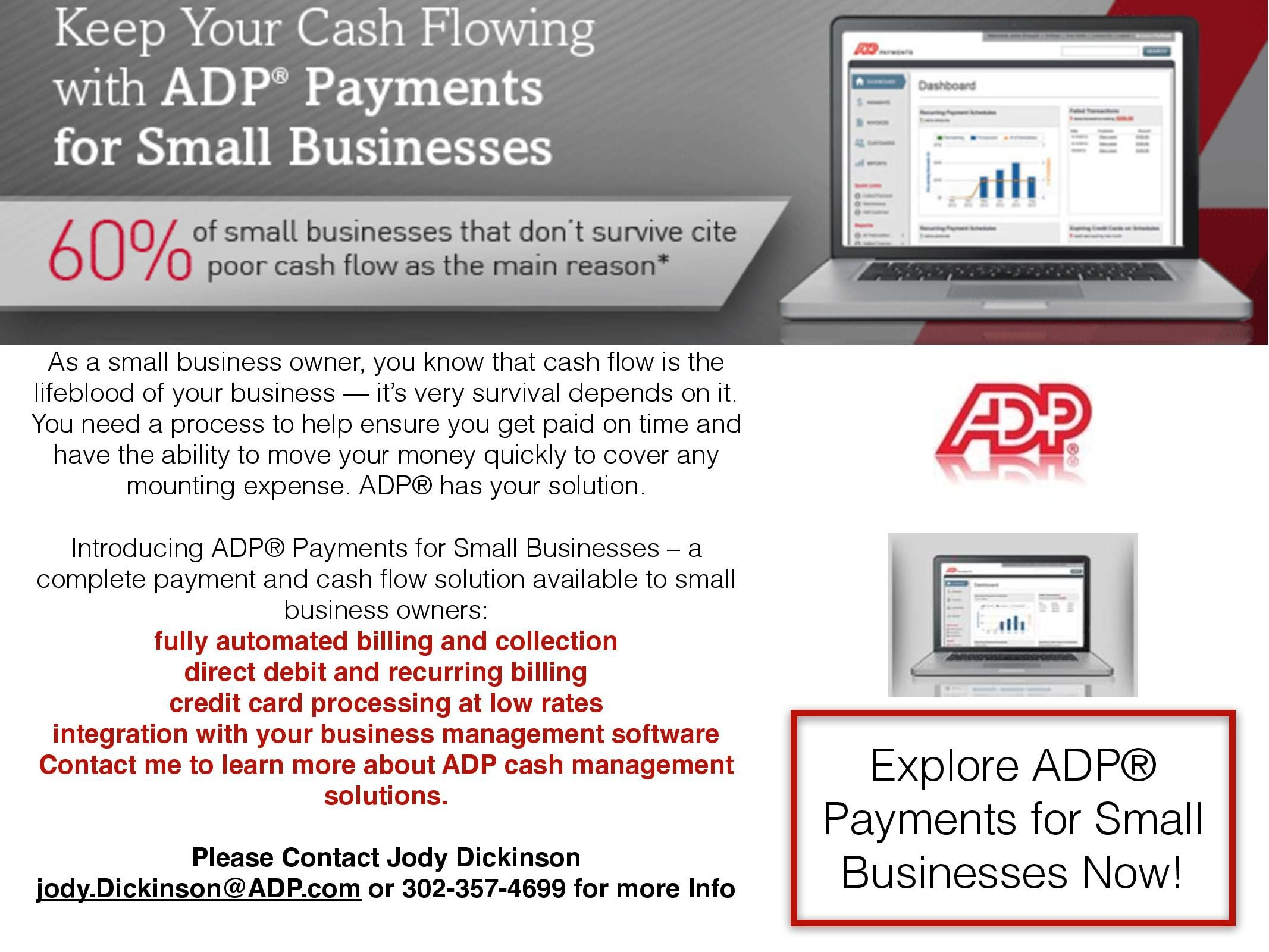 Introducing adp payments help your businesses cash flow today help your businesses cash flow today fully automated billing and collection direct debit and recurring billing credit card processing at low rates reheart Image collections