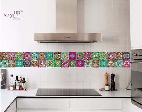 Vinilos decorativos vencitas p revestir azulejos pack x - Azulejos decorativos cocina ...