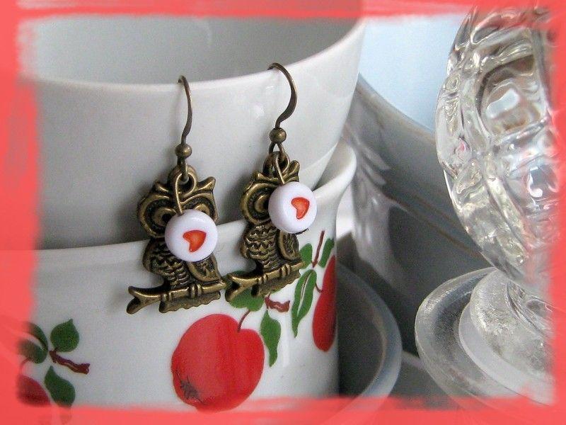 Ohrringe*Eule mit Herz* CLARKIkind von CLARKIkind auf DaWanda.com