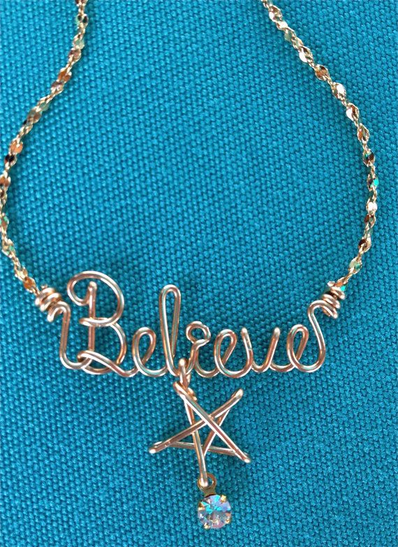 Personalized Jewelry Gold Wire Name Necklace or Anklet~Heart, Cross ...