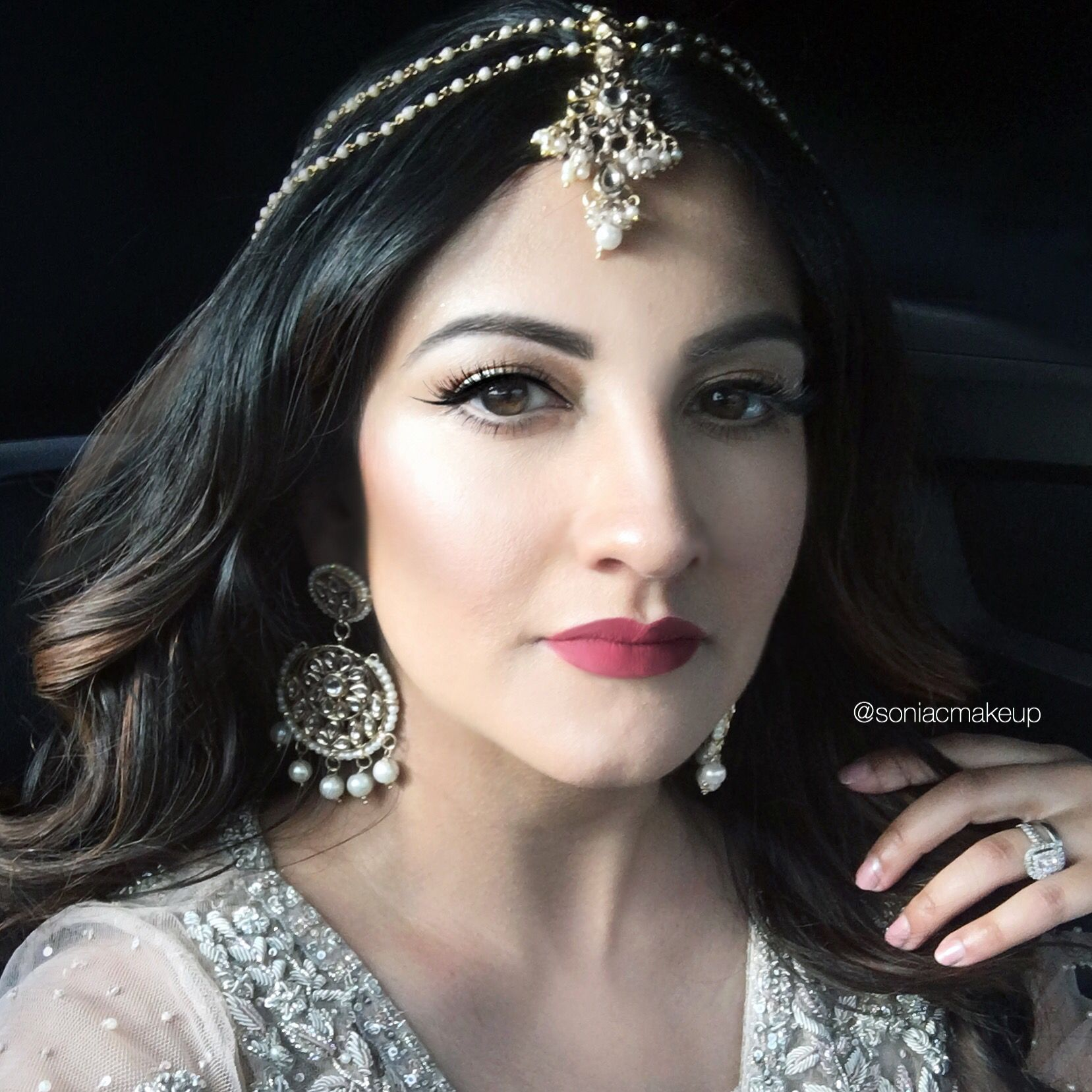 Bridal indian makeup natural look rare photo