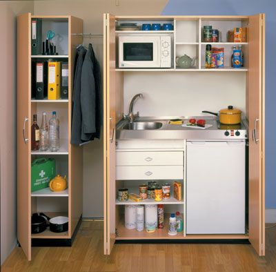 Micro modular kitchen systems: PK Unit Beech Open (With ...