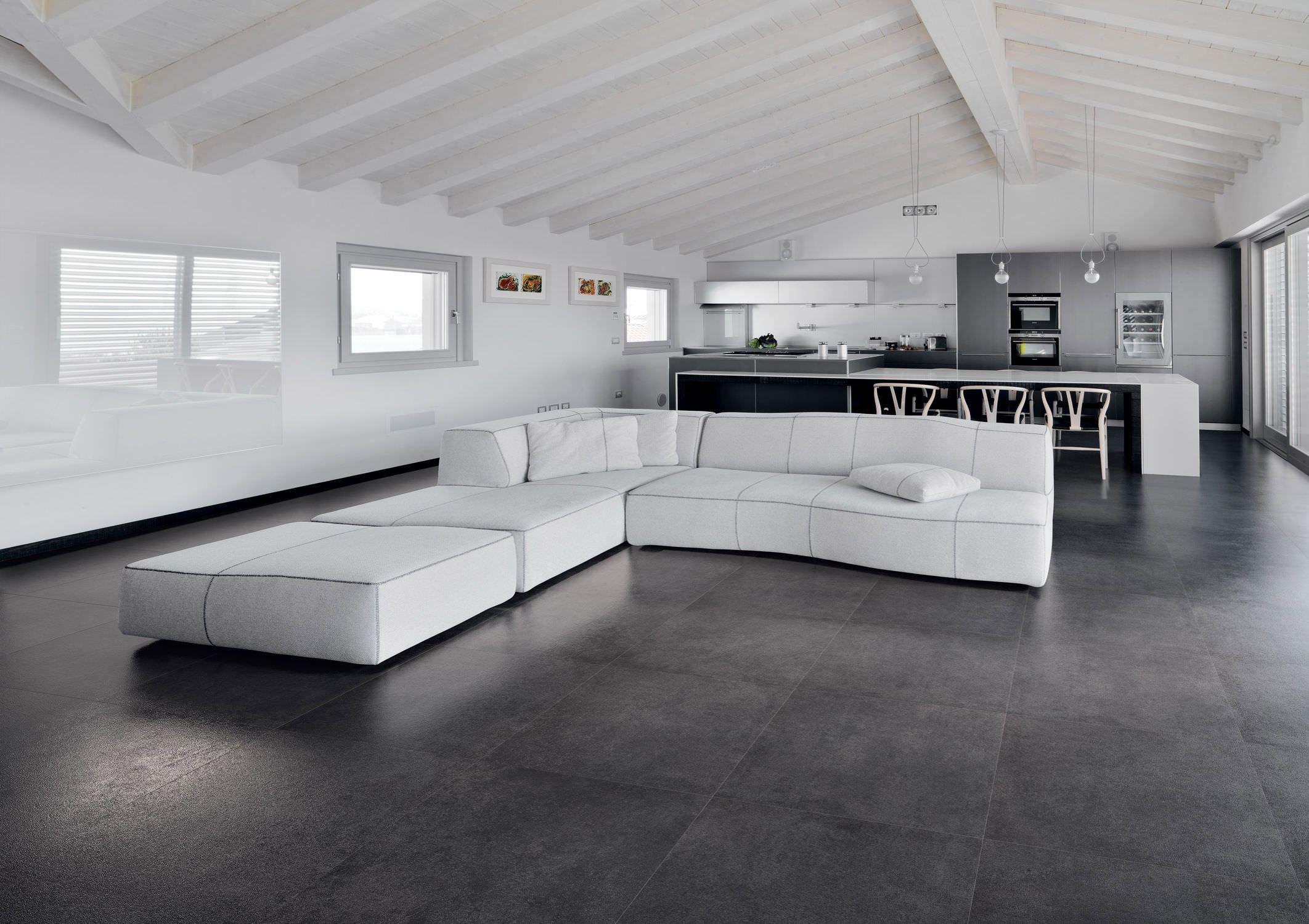 Fliese für Innenbereich / Wohnzimmer / Boden / Feinsteinzeug