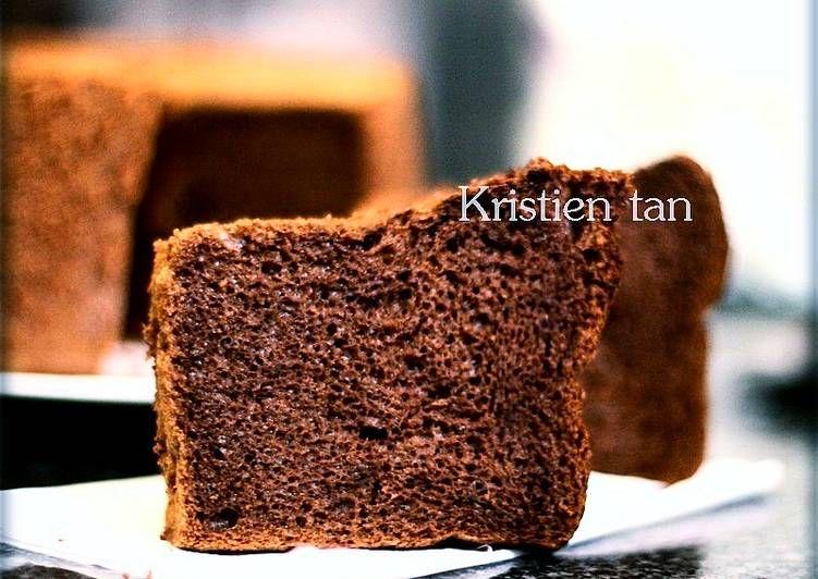 Resep Chiffon Cokelat Japanese Dark Pearl Chiffon So Far Paling Nyoklattt Klat Oleh Tintin Rayner Resep Kue Chiffon Membuat Kue Coklat Resep
