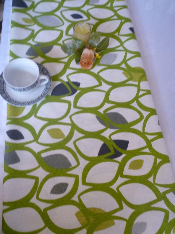 Charmant Lime Green Long Table Runner Modern Designer Cotton (95 ...