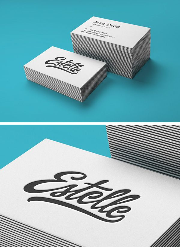 Today\'s special is a new business cards mock-up perfect for a neat ...