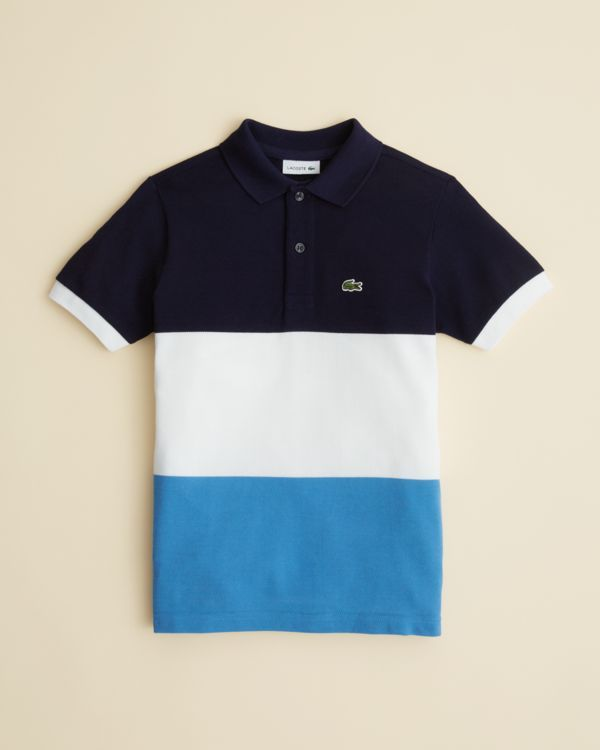 4da901cf1 Lacoste Boys  Bold Stripe Polo Shirt - Sizes 8-16
