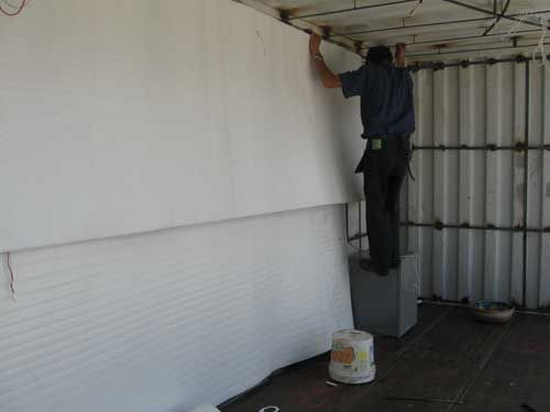 how to install insulation in a shipping container home