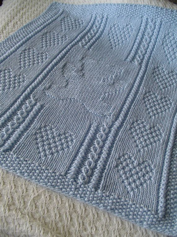 Diese Hand stricken Baby-Decke ist eine neue Kreation von mir. Es ...