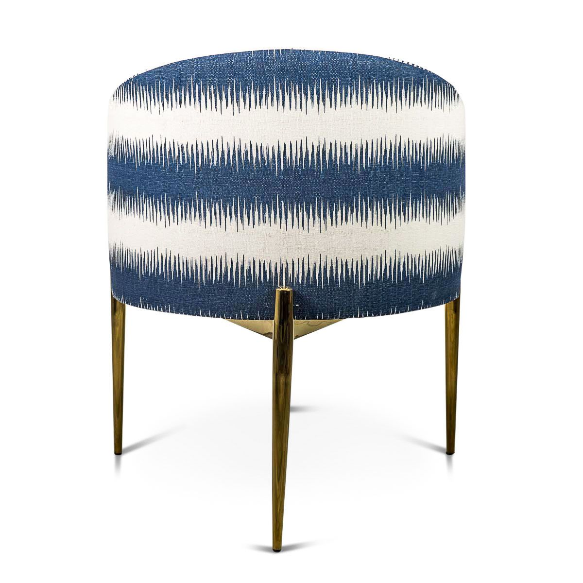 Charles Wingback Chair Navy Deco Stripe: Art Deco Dining Chair In Stripe Ikat