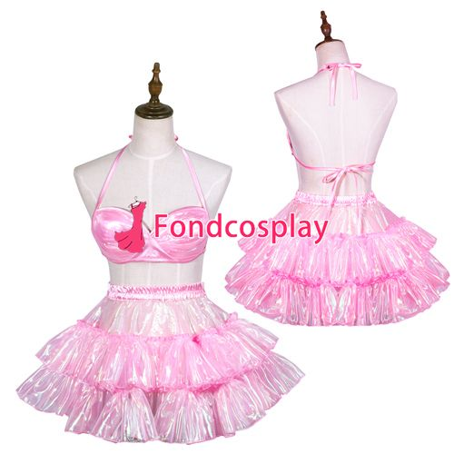 Sissy maid pink organza top and skirt Uniform cosplay costume Tailor-made[G3767] #Sissy maids http://www.ku-ki-shop.com/shop/sissy-maids/sissy-maid-pink-organza-top-and-skirt-uniform-cosplay-costume-tailor-made-g3767/