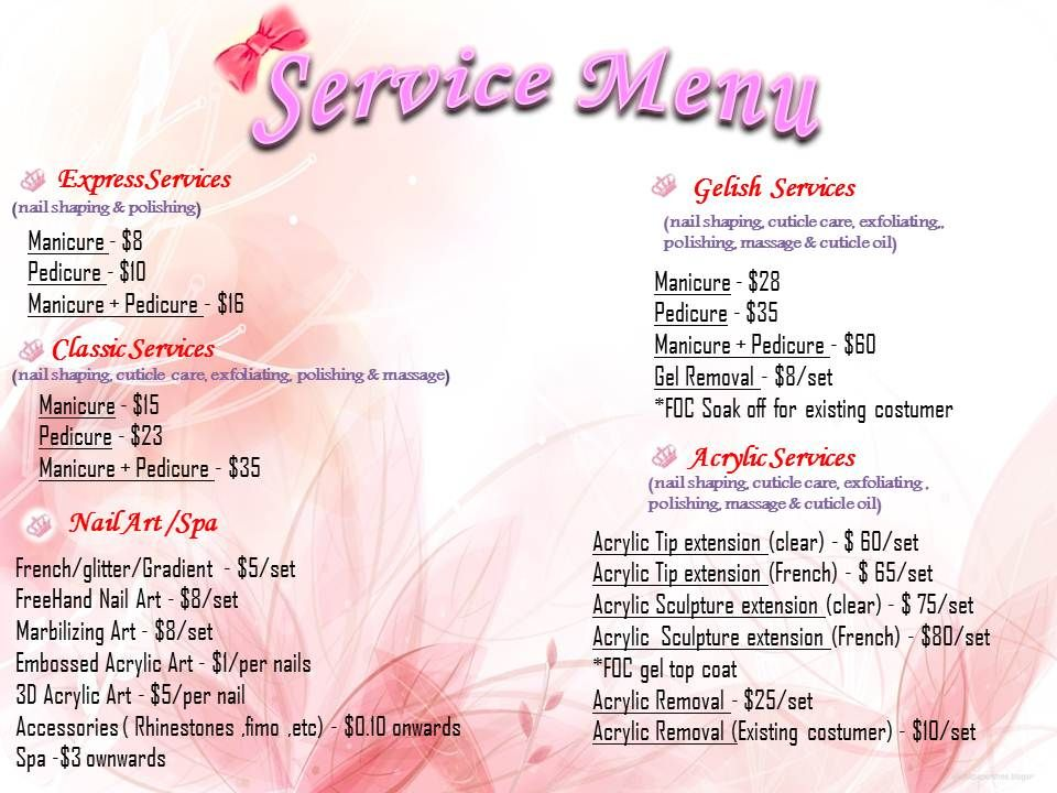 Nail Salon Price List Lovely Best 25 Hair Salon Names