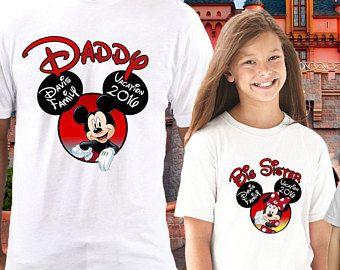 Disney Family Birthday Shirt Custom Personalized Shirts T
