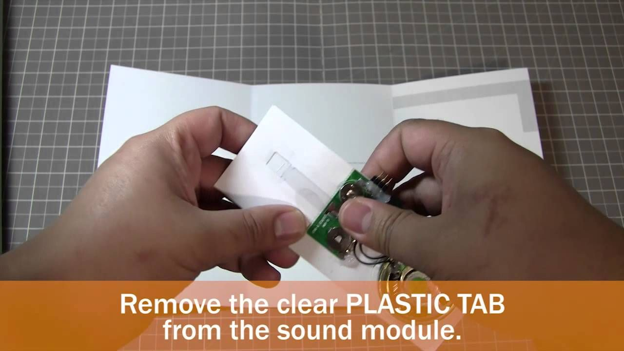 Diy How To Make A Musical Greeting Card With Sound Module