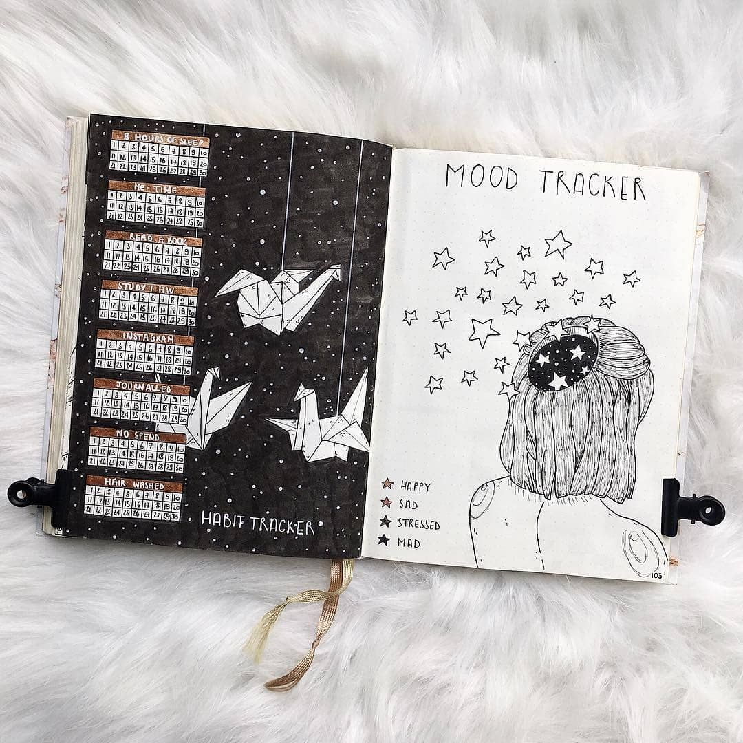 """Dot Daze on Instagram """"Im obsessed with this gorgeous mood tracker by @anouksbulletjournal 😍😍😍 Check out her page for more beautiful inspo!"""" is part of Bullet journal mood - 2,945 Likes, 40 Comments  Dot Daze (@dot daze) on Instagram """"Im obsessed with this gorgeous mood tracker by @anouksbulletjournal 😍😍😍 Check out her page for more…"""""""
