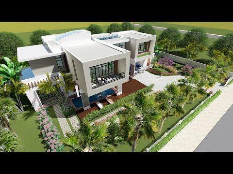 Lumion 6 easy tip Render, Sketchup Modeling Modern Vila Design 12 - YouTube