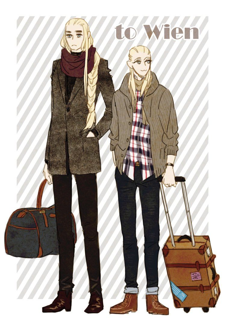 Modern Thranduil and Legolas in #sorry i'm not sorry about my elf problem