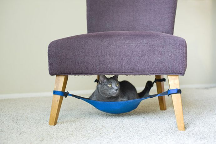 comfortable hammock for cat under your chair