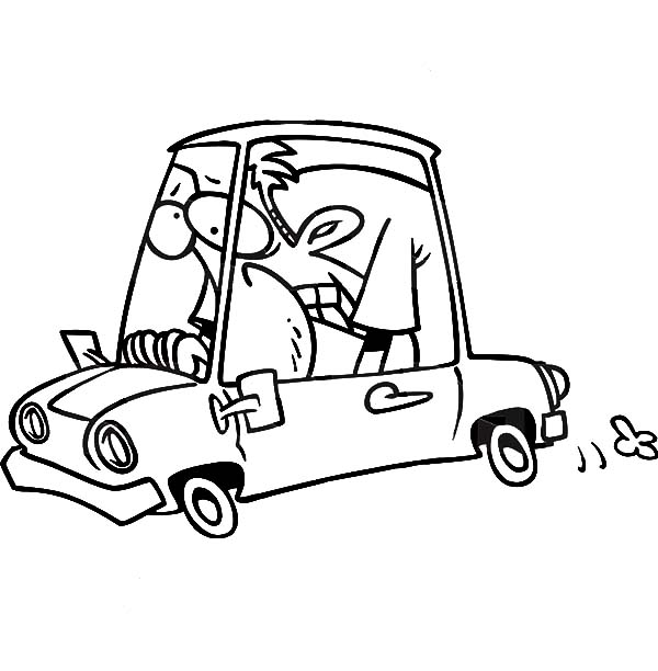 Man Driving Car In Hard Way Coloring Pages Best Place To Color Coloring Pages Car Ins Man