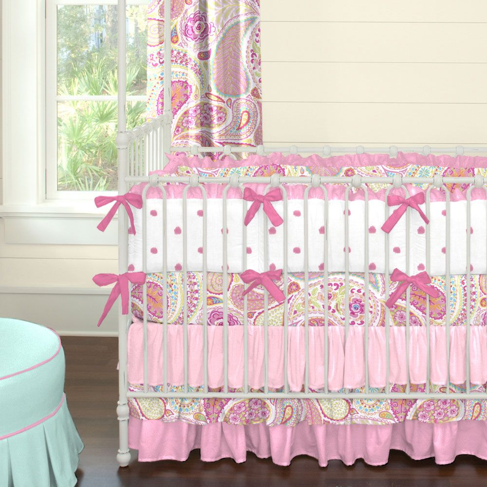 superior Paisley Crib Sheets Part - 14: Crib bedding sets