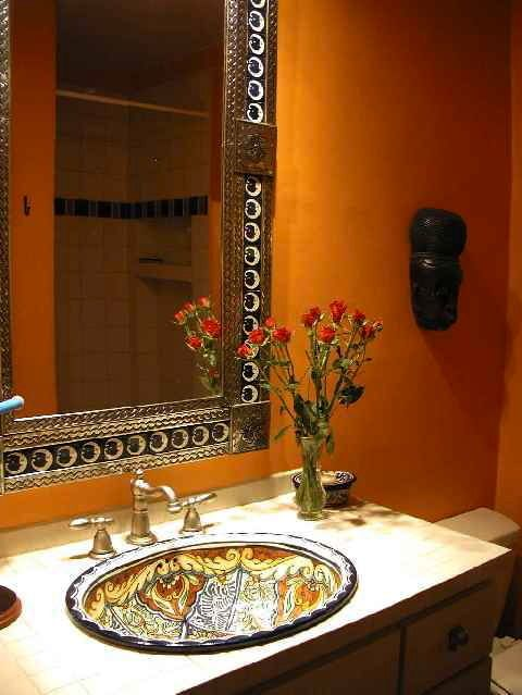 A Custom Hand Painted Sink And Or Mirror
