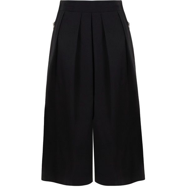 Big Park - Wide leg culottes (€335) ❤ liked on Polyvore featuring pants, bottoms, wide leg trousers, relaxed pants, wide leg pants, pleated pants and pleated trousers