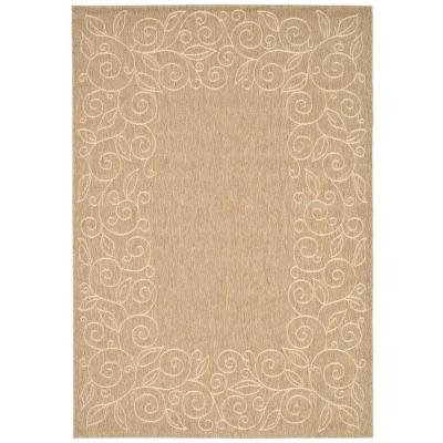 Safavieh Courtyard Dark Beige Beige 5 Ft X 8 Ft Indoor Outdoor Area Rug Cy5139b 5 Indoor Outdoor Area Rugs