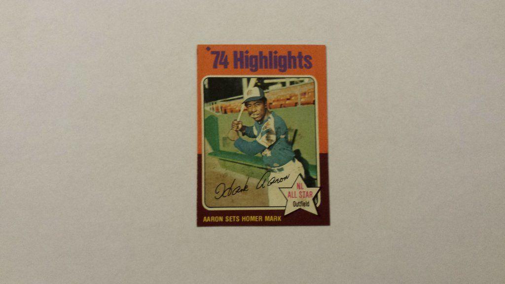 1975 topps hank aaron single baseball card baseball