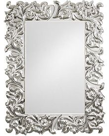Venetian beveled glass mirror framed by six pieces of silver and clear glass  with a raised 964121dec5f