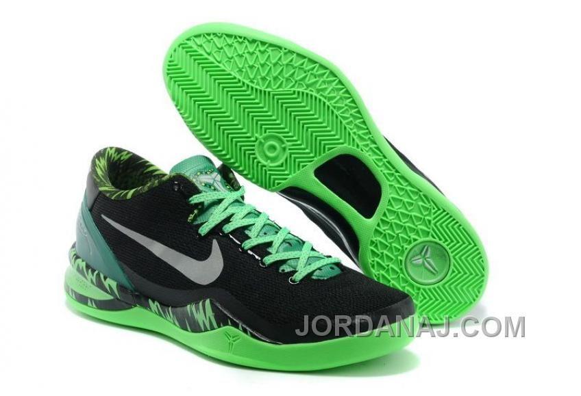 Mens NK Kobe 8 Elite Low Basketball Shoes Black Green