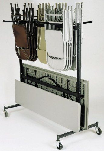 National Public Seating Table And Chair Combo Caddy - 42-Chair And 10-Table Capacity