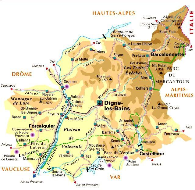 04 Alpes de Haute Provence Cartes de France Pinterest