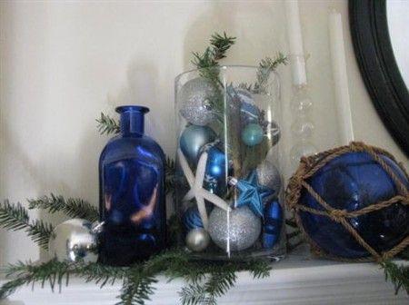 Accesorios navide os para decorar el hogar en tono azul for Accesorios para decorar en navidad
