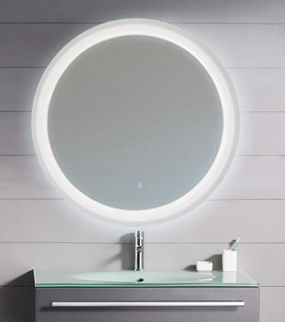 Grail 26 Led Mirror Round Wall M Wall Mounted Mirror Led Mirror Bathroom Mirror