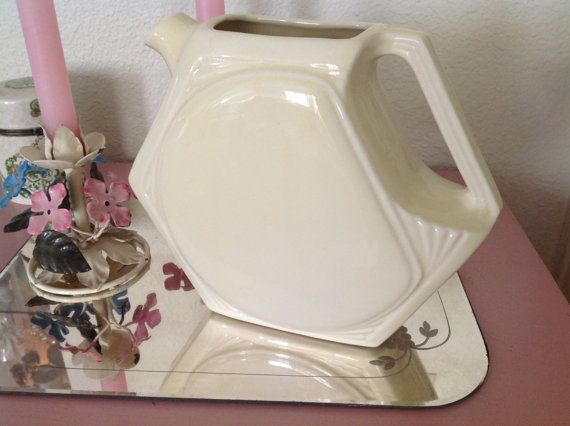 Beautiful Cream Colored Pitcher Old Pottery by nanciesvintagenest, $29.00