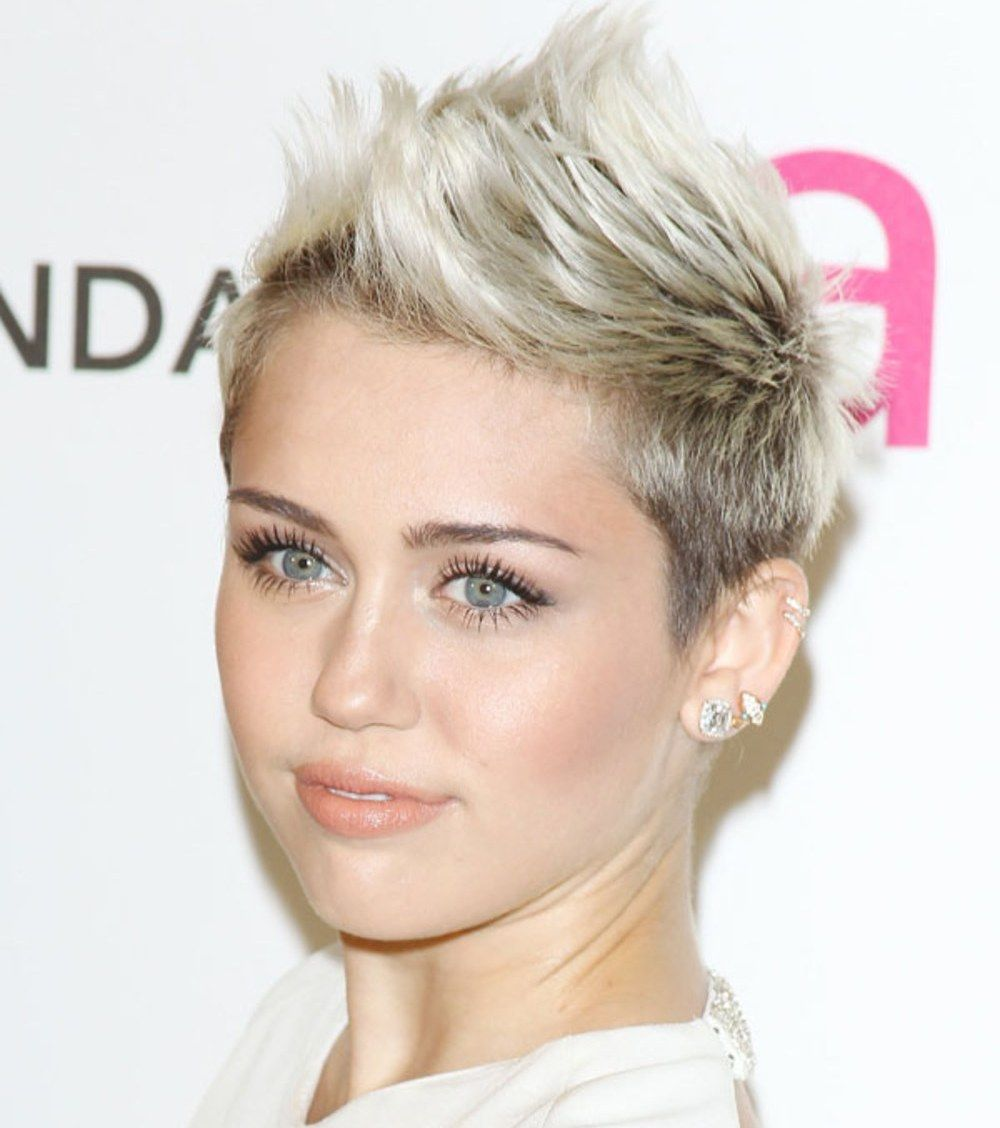 miley cyrus hair styles miley cyrus oval with mohawk hairstyles hair 2307