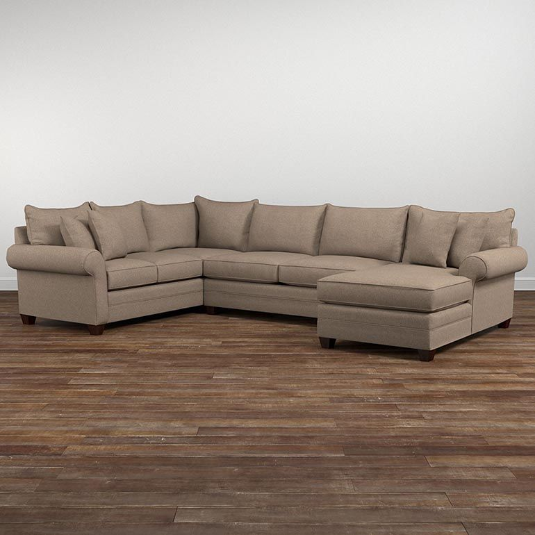 Featuring Sock Arms Wedge Legs Semi Attached Bed Pillow Back And Boxed Seat Cushions Alex Lends Itself To A Relaxed Environment Walnut Is The Standa