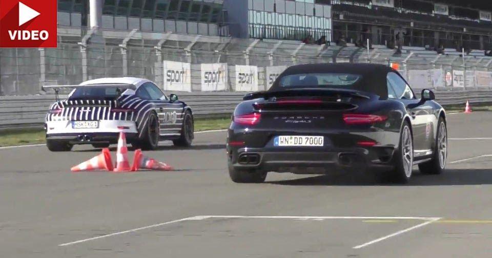 Porsche 911 GT3 RS Drag Races Turbo S, Merc GT S, Corvette Z06 #Corvette #Drag_Racing