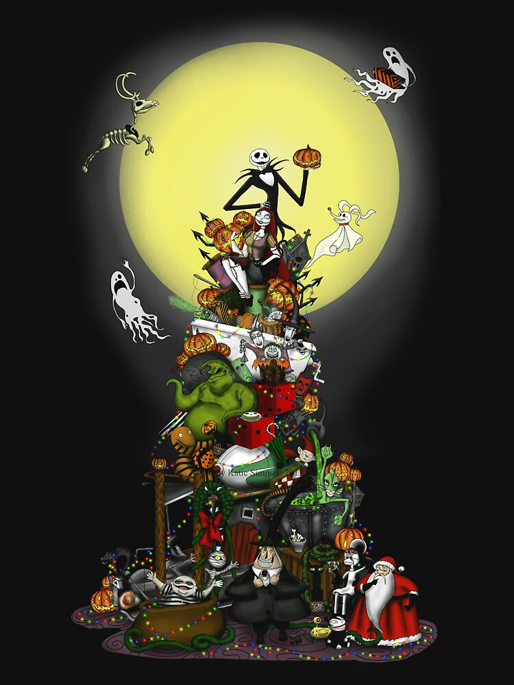 Christmas Trees Essential T Shirt By Huttonshop In 2021 Nightmare Before Christmas Wallpaper Nightmare Before Christmas Tattoo Nightmare Before Christmas Drawings