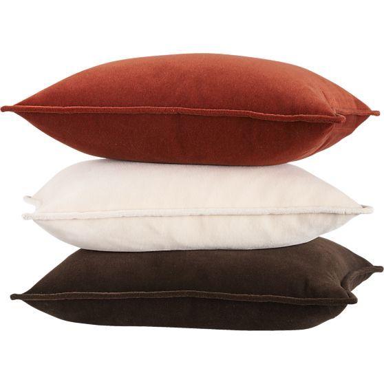 "Monroe Espresso 18"" Pillow in Decorative Pillows   Crate and Barrel"