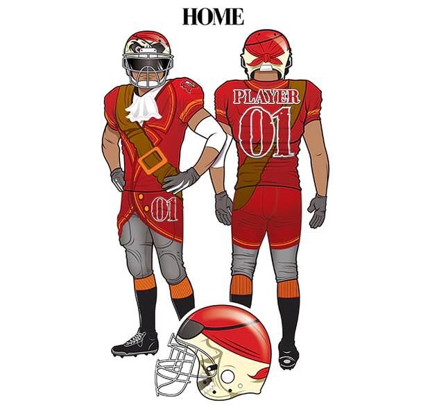 Bucs Uniform Redesign A Jersey Fit For A Renaissance Pirate Renaissance Pirate Uniform Jersey
