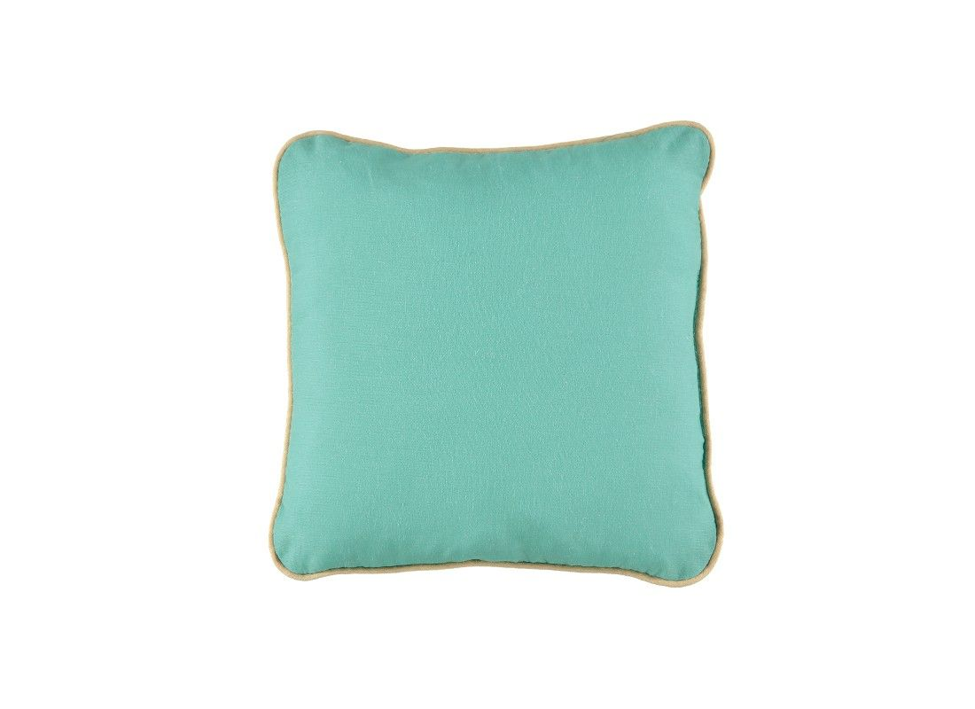 Little square cushion joe of tropical green color perfect to use it