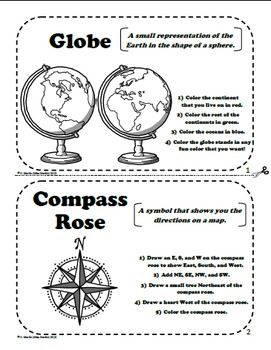 Maps And Globes A Printable Book For Introducing Or