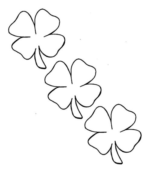 pictures four leaf clover coloring pages - Four Leaf Clover Coloring Pages