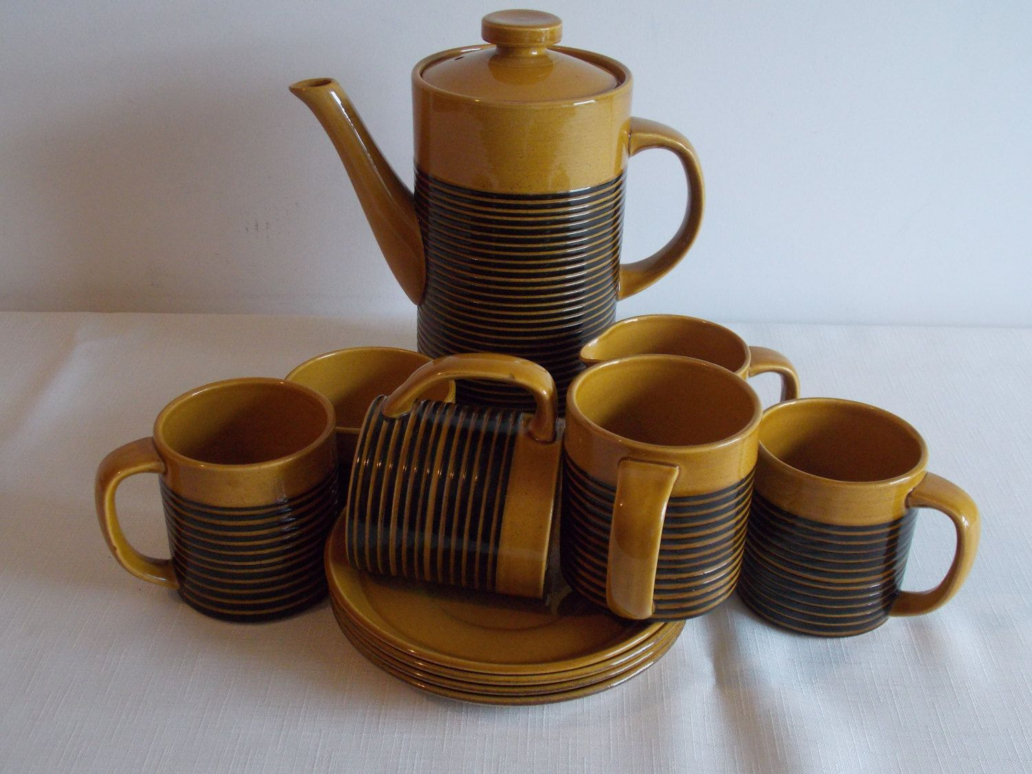 Special Easter offer.     A honey and black coffee set. by ByGoneEraEmporium on Etsy