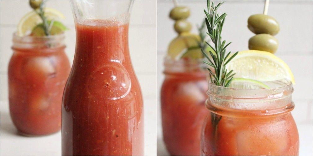 Spicy Old Bay Bloodys with Rosemary Infused Vodka With