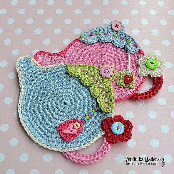 Teapot coaster - crochet pattern, DIY | Grandes regalos, Regalos ...