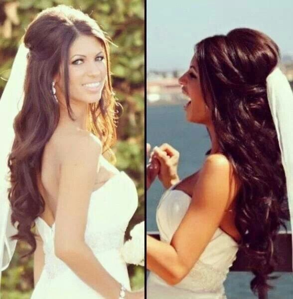 50 Dreamy Wedding Hairstyles For Long Hair: Wedding Hair With Veil See Www.my-best-friends-wedding.com