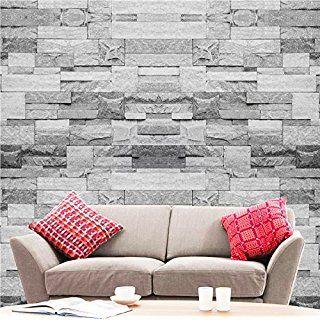 Hyfive Brick Effect Wallpaper 3d Brick Stone Straight Grey