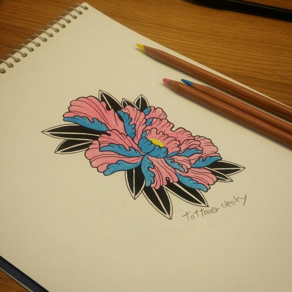 japanese tattoo desgin flower